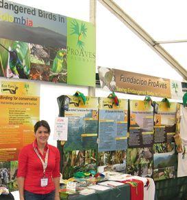 Stand de ProAves y Ecoturs en la Feria de Aves en el Reino Unido