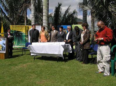 Representantes de las instituciones que lideran la campaña